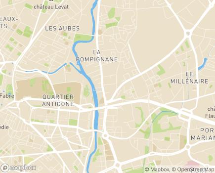 Localisation Korian la Pompignane - 34000 - Montpellier