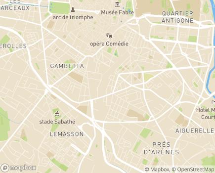 Localisation Les Terrasses des Glycines - Résidence Sénior - 34000 - Montpellier