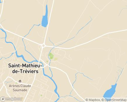 Localisation EHPAD La Quintessence - 34270 - Saint-Mathieu-de-Tréviers