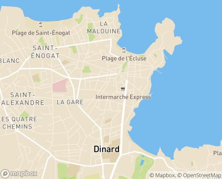 Localisation Korian Villa la Balnéaire - 35800 - Dinard
