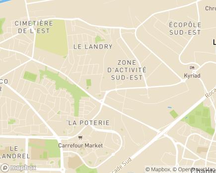 Localisation Les Jardins d'Hermine LNA Santé - 35000 - Rennes