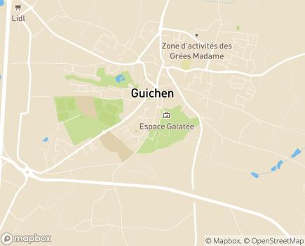 Localisation CLIC des Quatre Rivières - 35580 - Guichen