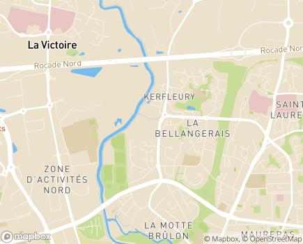 Localisation Espace et Vie Rennes Bellangerais, Résidence avec Services - 35700 - Rennes