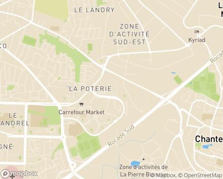 Localisation Espace et Vie de Rennes Poterie - Résidence avec Services - 35200 - Rennes