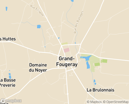Localisation EHPAD du Centre Hospitalier Grand-Fougeray - 35390 - Grand-Fougeray