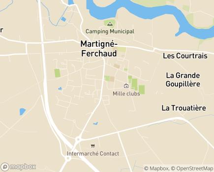 Localisation EHPAD Résidence des Loriettes - 35640 - Martigné-Ferchaud