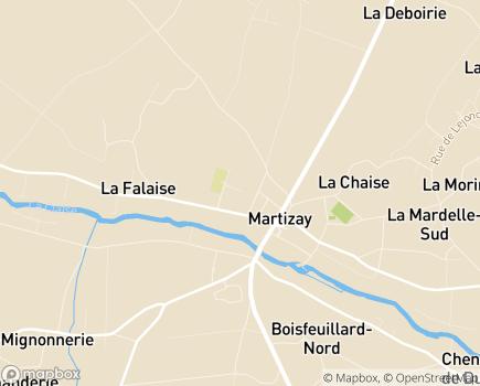 Localisation Résidence pour Personnes Agées Les Hirondelles - 36220 - Martizay