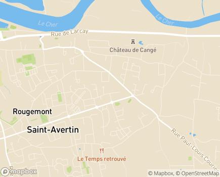 Localisation Korian Le Vencay - 37550 - Saint-Avertin