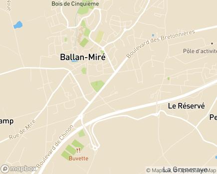 Localisation Espace Médical Tours - 37510 - Ballan-Miré