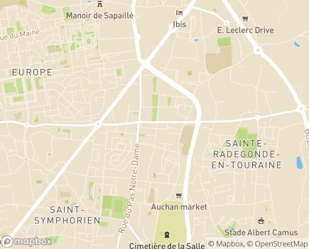 Localisation Capvie Tours - 37100 - Tours