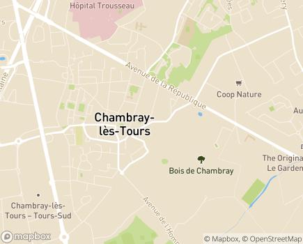 Localisation Résidence Services Eugénie Primavera - 37170 - Chambray-lès-Tours