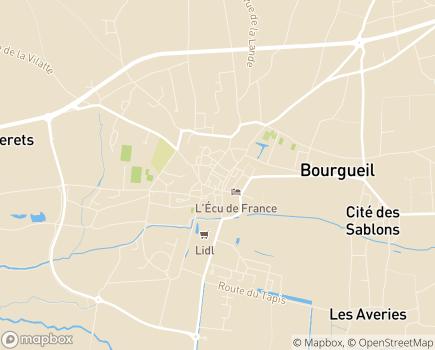 Localisation EHPAD Étienne de Bourgueil - 37140 - Bourgueil