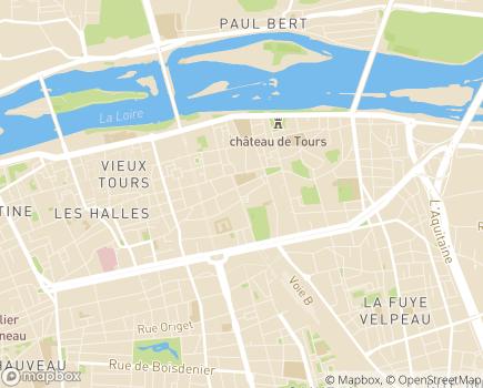 Localisation Conseil départemental d'Indre-et-Loire - 37927 - Tours