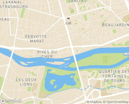 Localisation Centre Provisoire d'Hébergement - 37204 - Tours