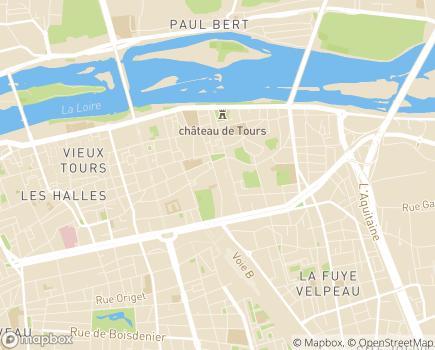Localisation Association Jeunesse et Habitat - 37000 - Tours