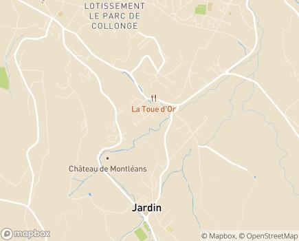 Localisation Korian Villa Ortis - 38200 - Jardin