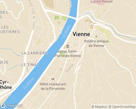 Localisation CAMSP La P'tite Cabane - 38200 - Vienne