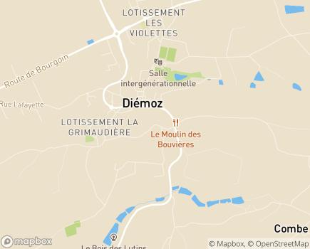 Localisation EHPAD Les Jardins Médicis - 38790 - Diémoz