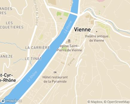 Localisation SESSAD Les 7 Collines - 38200 - Vienne