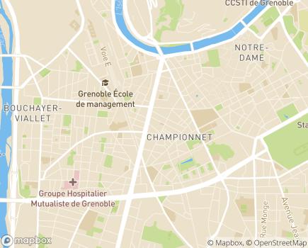 Localisation Résidence Les Bains - Résidence Séniors - 38000 - Grenoble