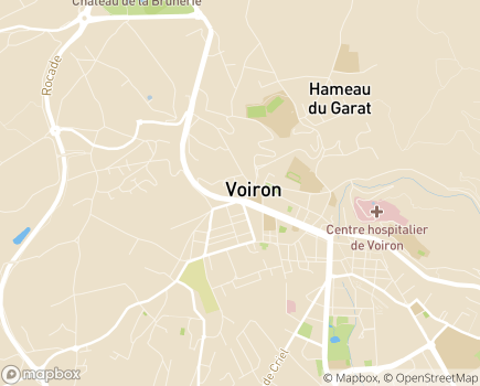 Localisation Aquarelia Voiron - 38500 - Voiron