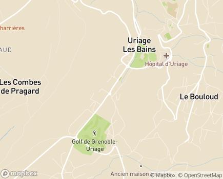 Localisation Etablissement Thermal - 38410 - Uriage-les-Bains