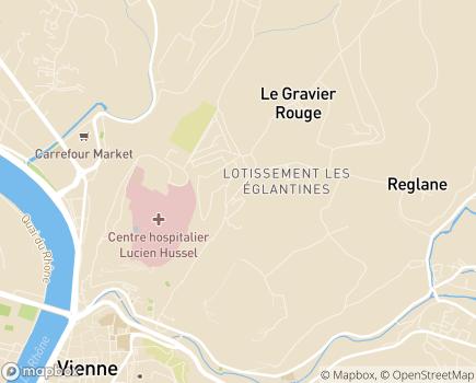 Localisation Maison d'Enfants à Caractère Social Les Guillemottes - 38200 - Vienne