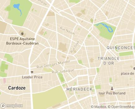 Localisation Thermes Les Ecureuils - 40100 - Dax