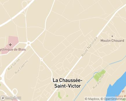 Localisation HAD Loir et Cher LNA Santé - 41260 - La Chaussée-Saint-Victor