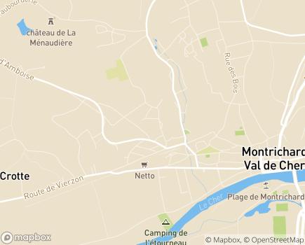 Localisation Les Résidences Touraine - 41400 - Montrichard