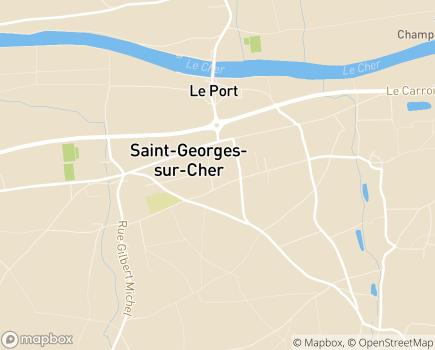 Localisation EHPAD Le Val Fleuri - 41400 - Saint-Georges-sur-Cher