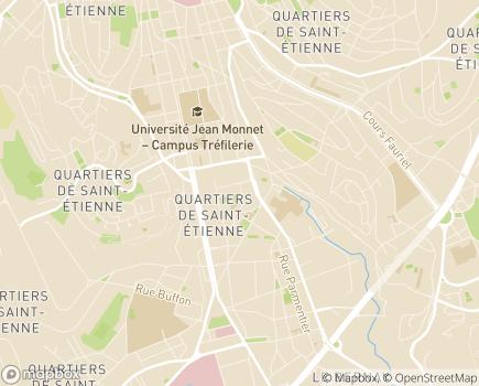 Localisation EHPAD Résidence L'Hermitage - 42100 - Saint-Étienne