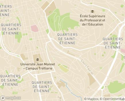 Localisation EHPAD Résidence Les Serianes - 42031 - Saint-Étienne