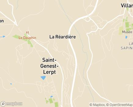 Localisation EHPAD Le Chasseur - 42530 - Saint-Genest-Lerpt