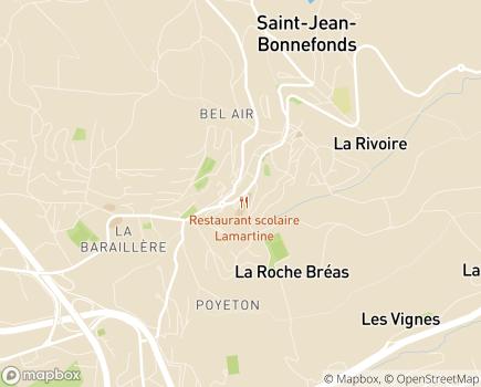 Localisation EHPAD La Roseraie Résidence Maison de Retraite - 42650 - Saint-Jean-Bonnefonds