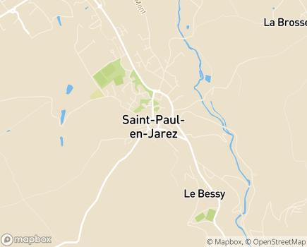Localisation Résidence Mutuliste Le Val d'Orlay - 42740 - Saint-Paul-en-Jarez