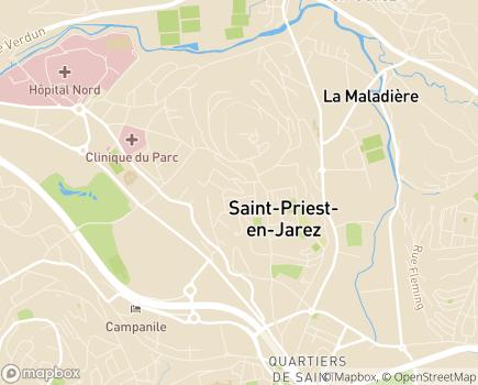 Localisation EHPAD Résidence Saint-Priest - 42270 - Saint-Priest-en-Jarez