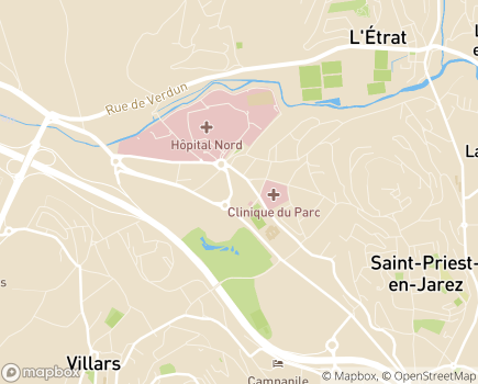 Localisation EHPAD Le Clos Champirol LNA Santé - 42270 - Saint-Priest-en-Jarez