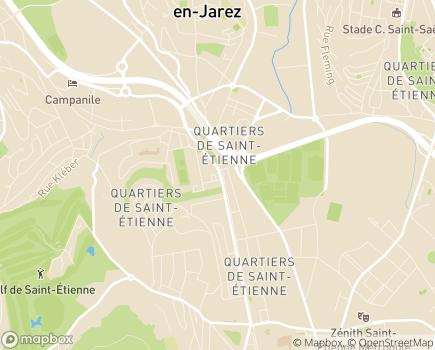 Localisation Korian Bergson - 42000 - Saint-Étienne
