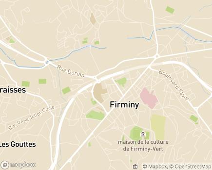 Localisation EHPAD la Verrerie - 42700 - Firminy