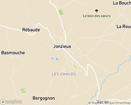 Localisation EHPAD Au Fil de Soie - 42660 - Jonzieux