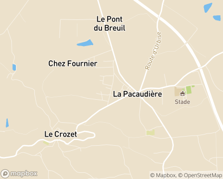 Localisation EHPAD Fondation Grimaud - 42310 - La Pacaudière