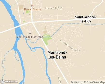 Localisation Korian - Clinique Alma Santé - 42210 - Montrond-les-Bains
