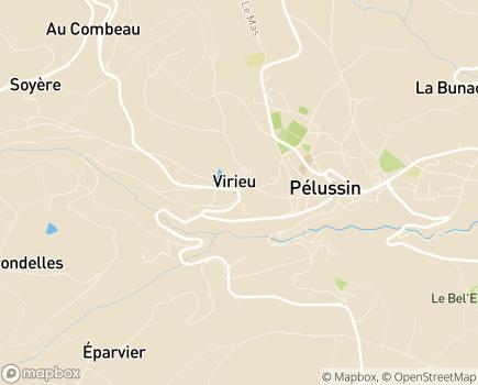 Localisation EHPAD Centre Hospitalier de Pélussin - 42410 - Pélussin