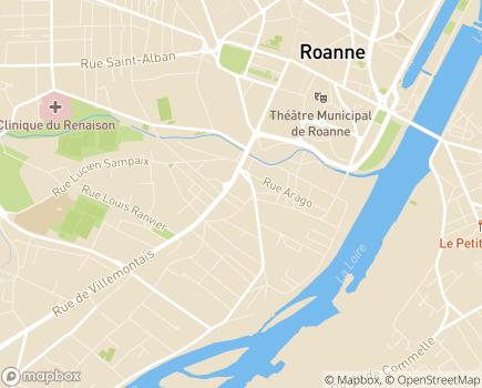 Localisation Résidence Marguerite - 42300 - Roanne