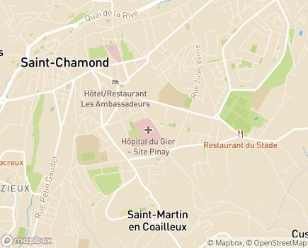 Localisation EHPAD du Centre Hospitalier du Pays-du-Gier-Saint-Chamond - 42400 - Saint-Chamond