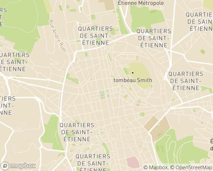 Localisation Conseil Départemental de la Loire - 42022 - Saint-Étienne