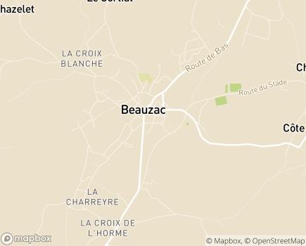 Localisation EHPAD Foyer Bon Secours - 43590 - Beauzac