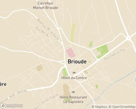 Localisation Centre de Long Séjour - 43100 - Brioude