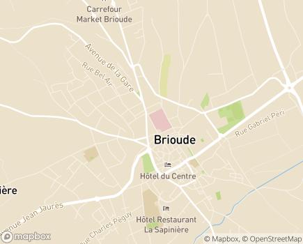 Localisation EHPAD du Centre Hospitalier de Brioude - 43100 - Brioude